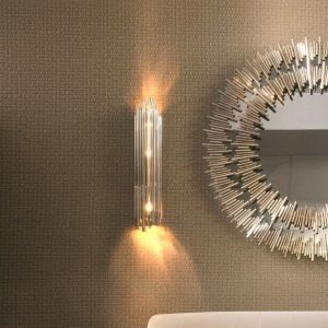 brubeck XL wall lamp lights switched on