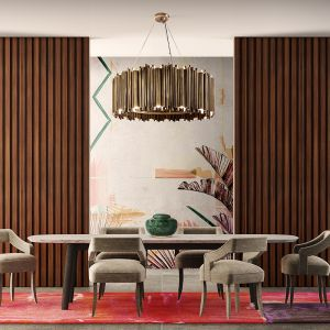 Brubeck round suspension Dinning room ambience