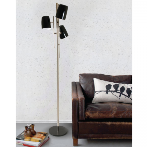 Delightfull cole floor lamp Glossy Black & Gold Plated & Glossy Black