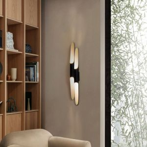 Coltrane wall light fixture 2 tubes ambience