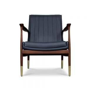 Essential Home Hudson Armchair Blue Leather