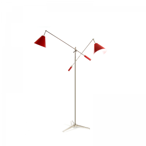 sinatra floor lamp with two arms
